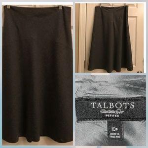 Charcoal Gray wool skirt